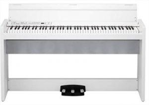 piano numérique meuble korg lp 380 wh